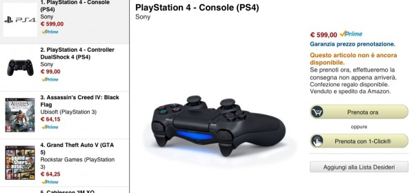 Playstation 4 su amazon.it