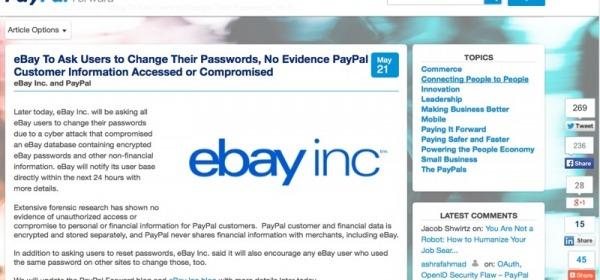 Ebay violato