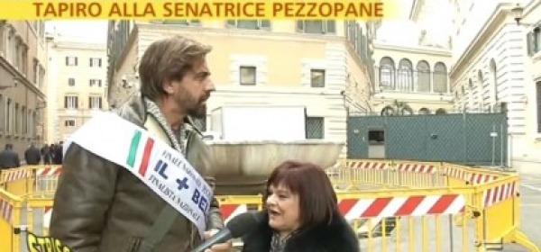 Tapiro alla Senatrice Stefania Pezzopane