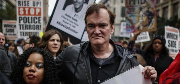 Quentin Tarantino - foto da instagram #thehatefuleight