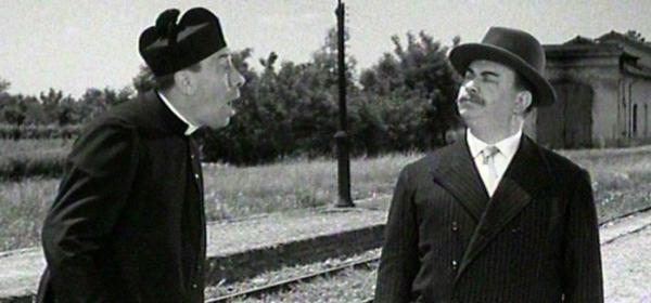 """Un fotogramma di """"Don Camillo e Peppone"""""""